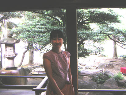 和館から見た日本庭園